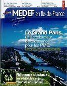 couverture Medef en Ile de France juin 2011