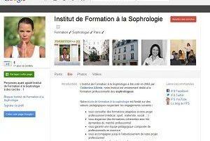 Institut de Formation à la Sophrologie sur Google +