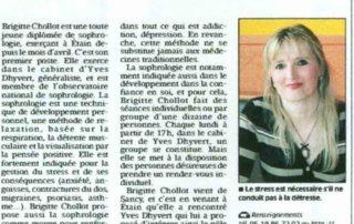 article Brigitte Chollot L'Est Républicain mai 2012