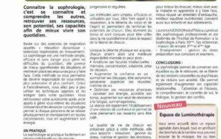 article sophrologie Déclic magazine
