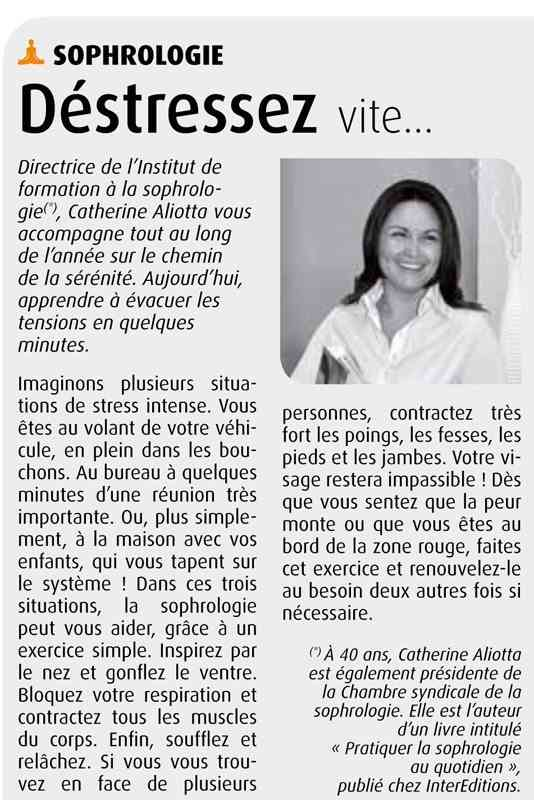 Article sophrologie