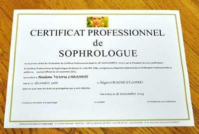 Titre RNCP délivré par l'Institut de Formation à la Sophrologie