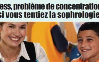 concentration à l'école sophrologie